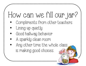 How Can We Fill Our Jar?