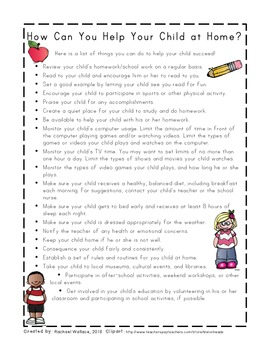 How Can You Help at Home? A List for Parents