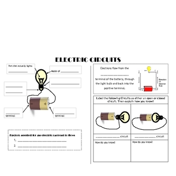 How Can You Make a Circuit-- Science Current Electricity Inquiry Activity