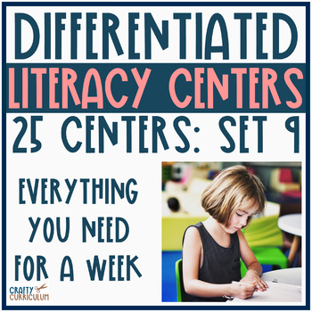 Differentiated Literacy Centers a Weeks worth of Activities Set 9