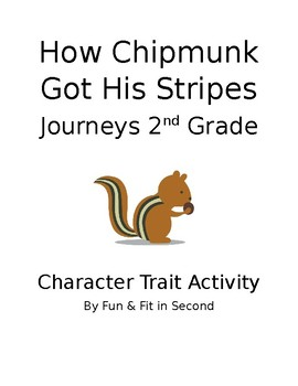 How Chipmunk Got His Stripes Character Activity
