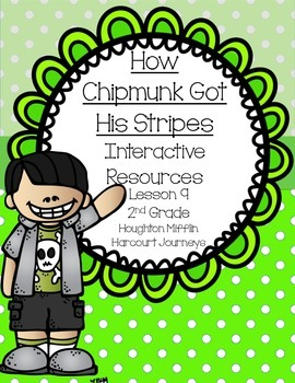 How Chipmunk Got His Stripes Interactive Resources (Aligned with Journeys 2nd)