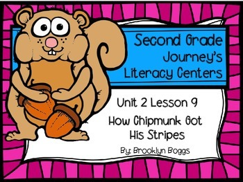 How Chipmunk Got His Stripes Journey's Literacy Centers -