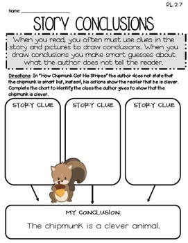 How Chipmunk Got His Stripes (Journeys 2nd Grade - Supplemental Materials)