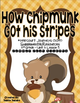 How Chipmunk Got His Stripes (2nd Grade - Supplemental Materials)