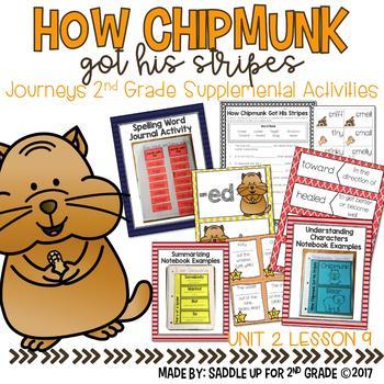 How Chipmunk Got His Stripes Journeys 2nd Grade Supplemental Activities