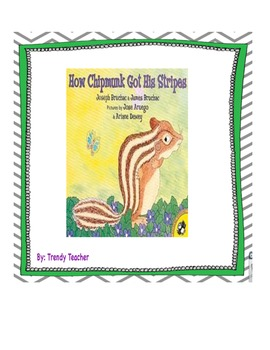 How Chipmunk Got His Stripes Journey's flipchart