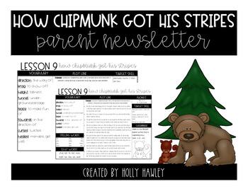 How Chipmunk Got His Stripes Newsletter