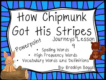 How Chipmunk Got His Stripes Powerpoint - Second Grade Journeys Lesson 9