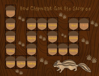 How Chipmunk Got His Stripes Spelling Game Board