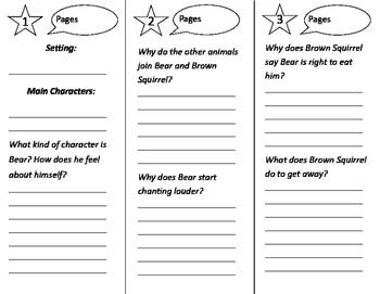 How Chipmunk Got His Stripes Trifold - Journeys 2nd Grade Unit 2 Week 4 (2011)