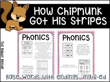 How Chipmunk Got His Stripes Unit 2, Lesson 9 Journeys Print & Go