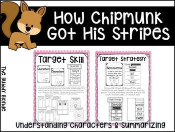 How Chipmunk Got His Stripes Unit 2, Lesson 9 Journeys Print & Go