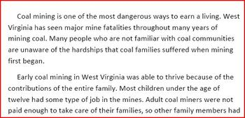 How Coal Mining Changed Families Forever