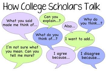 How College Scholars Talk