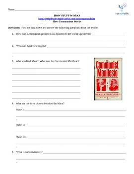 How Communism Works- Internet Assignment World History