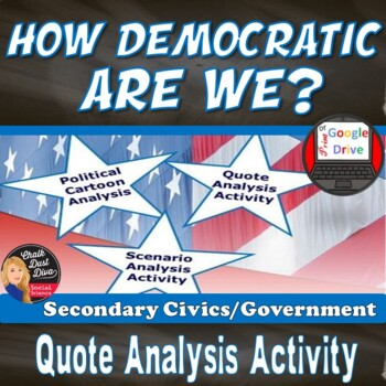 How Democratic Are We? Quote/Cartoon/Scenario Analysis Activity