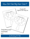 How Did I Get My Hair Color? Family Tree & History Printable