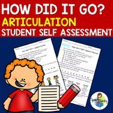 How Did It Go? ARTICULATION Activities for Self-Assessment of Articulation