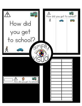 How Did You Get to School? Activity with EDITABLE Name Cards