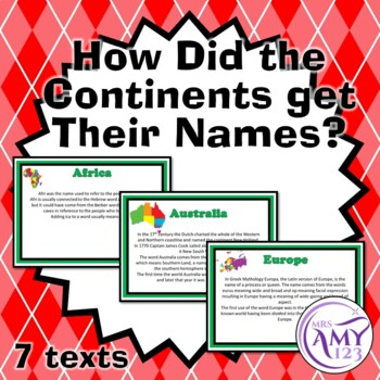 How Did the Continents Get Their Name? -7 Texts