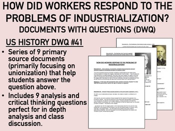 How Did the Workers Respond to Industrialization? Documents - USH/APUSH