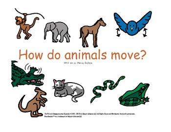 How Do Animals Move?: Movement and Imagination Building For Kids with Autism