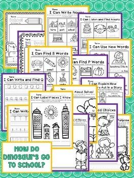 How Do Dinosaurs Go To School? Kindergarten NO PREP Journeys Unit 1 Lesson 2