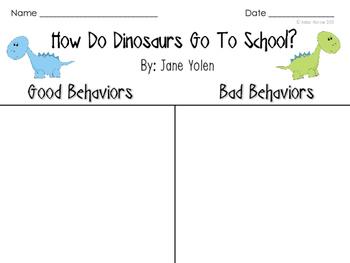 How Do Dinosaurs Go To School: Sorting Activity