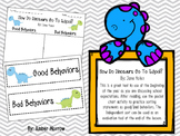 How Do Dinosaurs Go To School: Sorting Activity