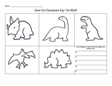 How Do Dinosaurs Say I'm Mad? Anger Management worksheet