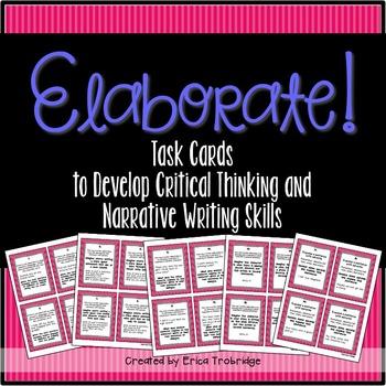 Elaboration {Writing Task Cards}