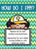 How Do I Feel? {Adjective List}