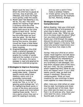 How Can I Help My Child Learn to Read? Handout