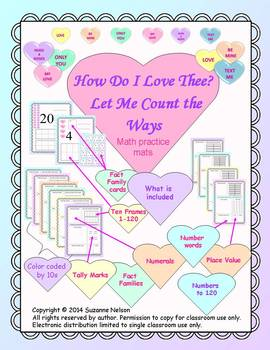 How Do I Love Thee? Let me count the ways math mats