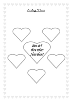 How Do I Show Love To Others Worksheet