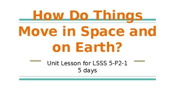 How Do Things Move in Space and on Earth? (Unit 3, Part 1)