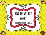 How Do We Get Home? Chevron Transportation Labels