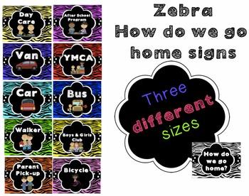 How Do We Go Home Clip Chart - Zebra