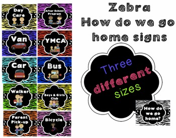 How Do We Go Home Clip Chart - Zebra