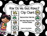 How Do We Get Home? Clip Chart and Graph (Black and White
