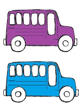 How Do We Get Home? Colored Bus Visuals for Bus Dismissal