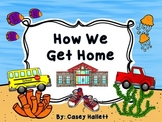 How We Get Home {Customizable Ocean Theme Transportation Clip Chart}