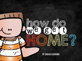 How Do We Get Home Display {Rainbow Chalkboard}