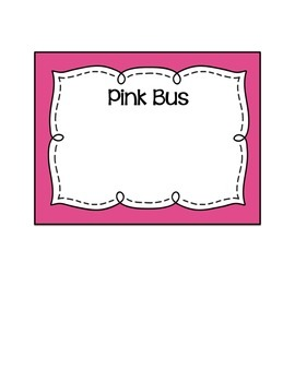 How Do We Get Home From School? Transportation and Bus Labels