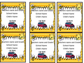 How Do We Get Home? Transportation Posters and Tags *** Editable*** Bee Themed