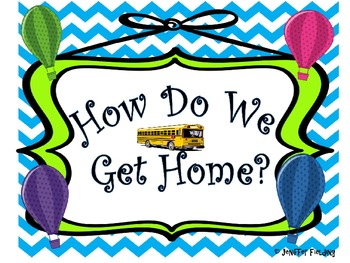 How Do We Get Home? Transportation Posters and Tags (Hot Air Balloon* Editable*