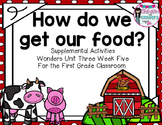 How Do We Get our Food- Supplemental Activities for Wonders Unit 3 Week 5