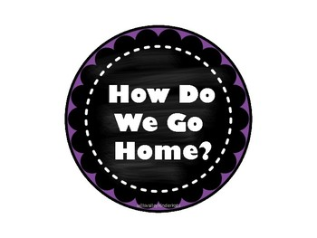 How Do We Go Home? Chalkboard Clip Circles