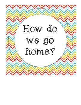 How Do We Go Home? Chevron-themed Transportation Chart